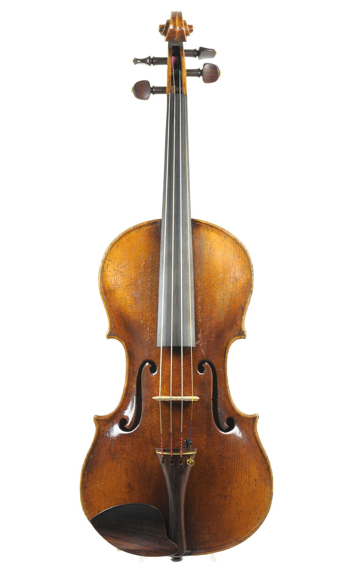 Violin by Friedrich August Glass, Klingenthal ca. 1850 - top