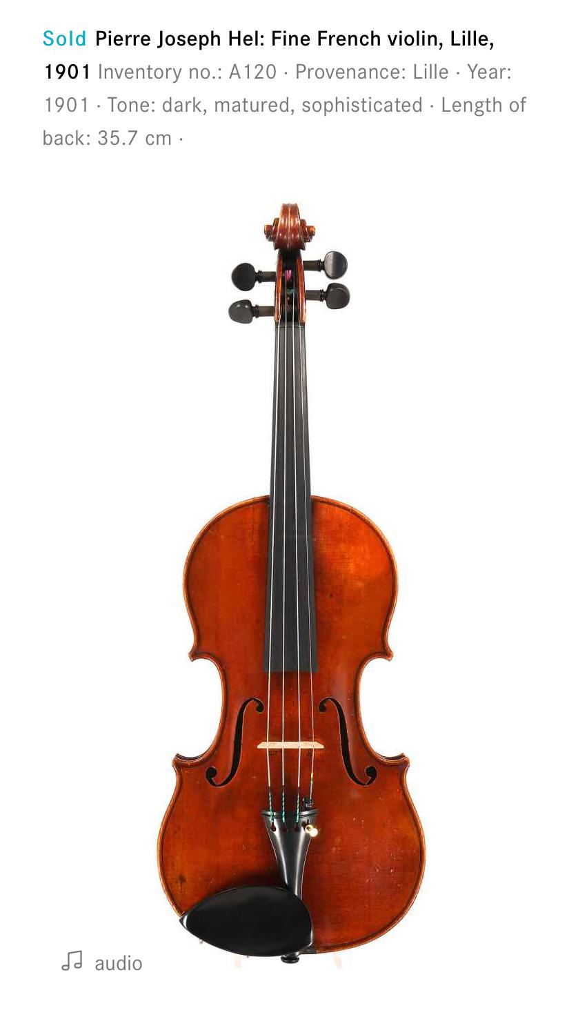 Pierre Joseph Hel violin