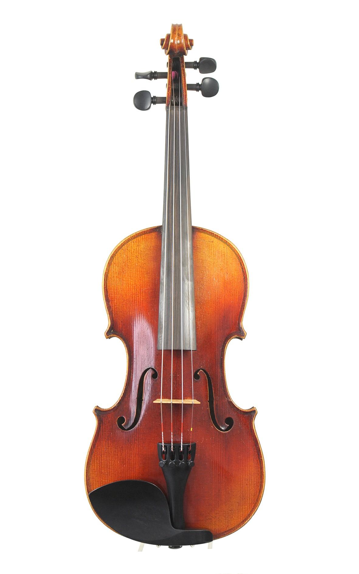 Antique violin, Albin Paulus, Markneukirchen c.1910 - top