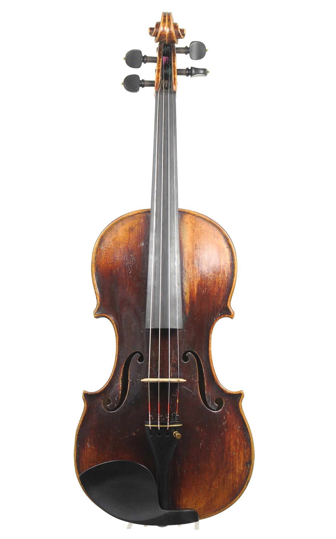 Thomas Simon: Mittenwald violin, c.1850 - top