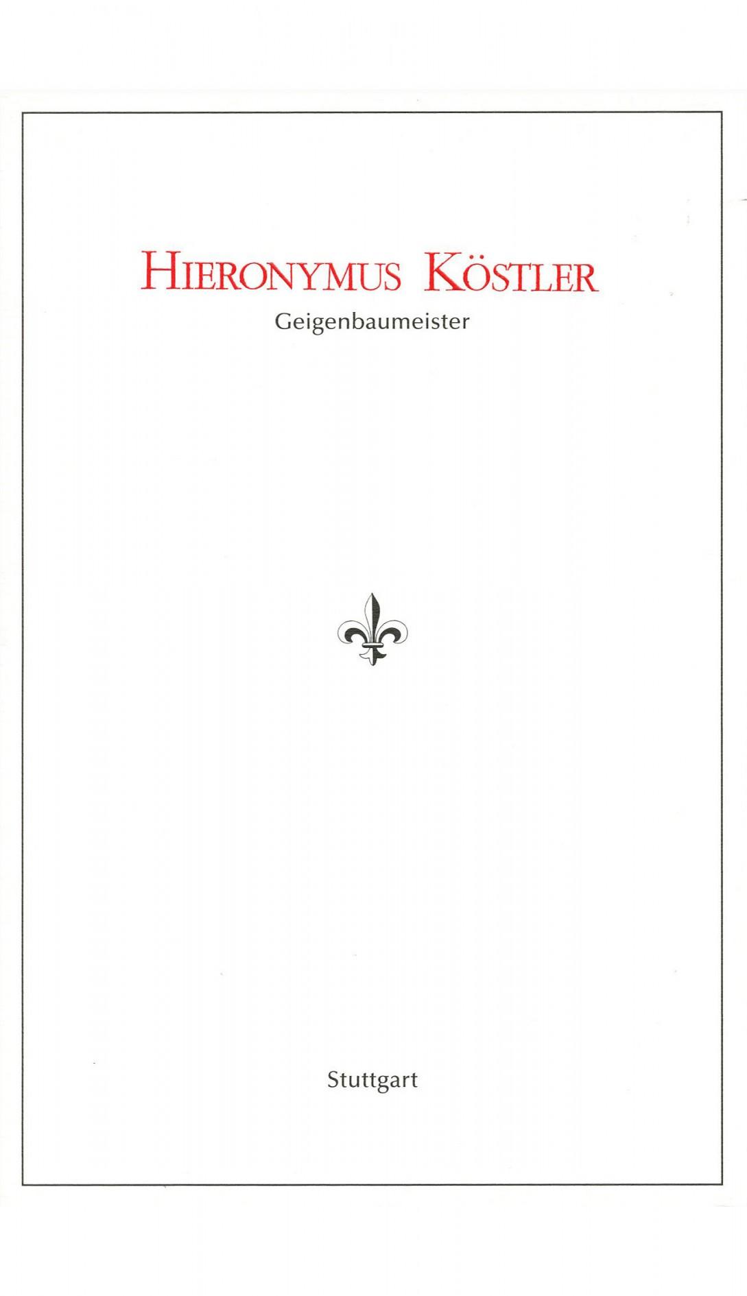 Expert certificate by Hieronymus Köstler