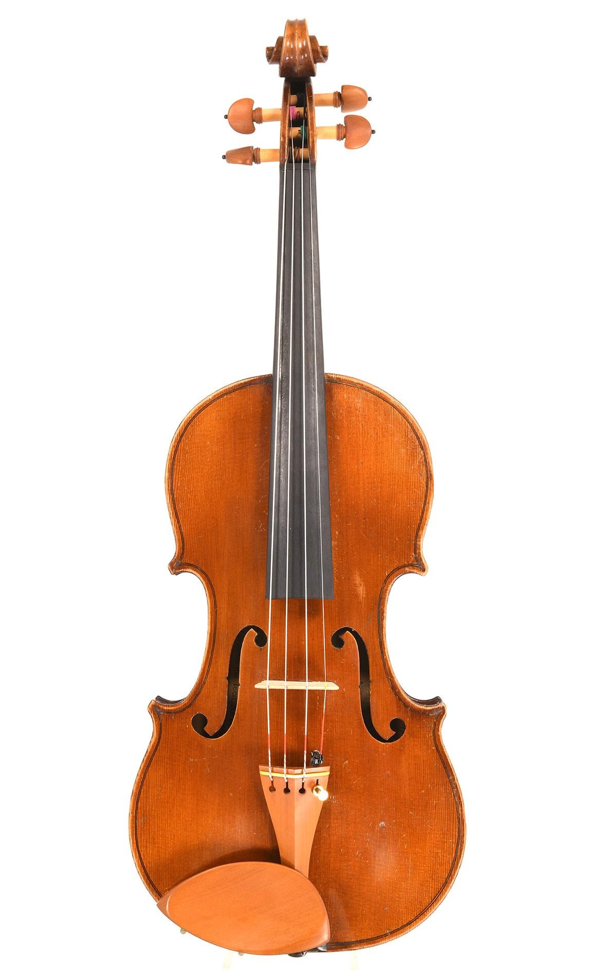 French violin by Laberte, Mirecourt - Amati model built around 1910