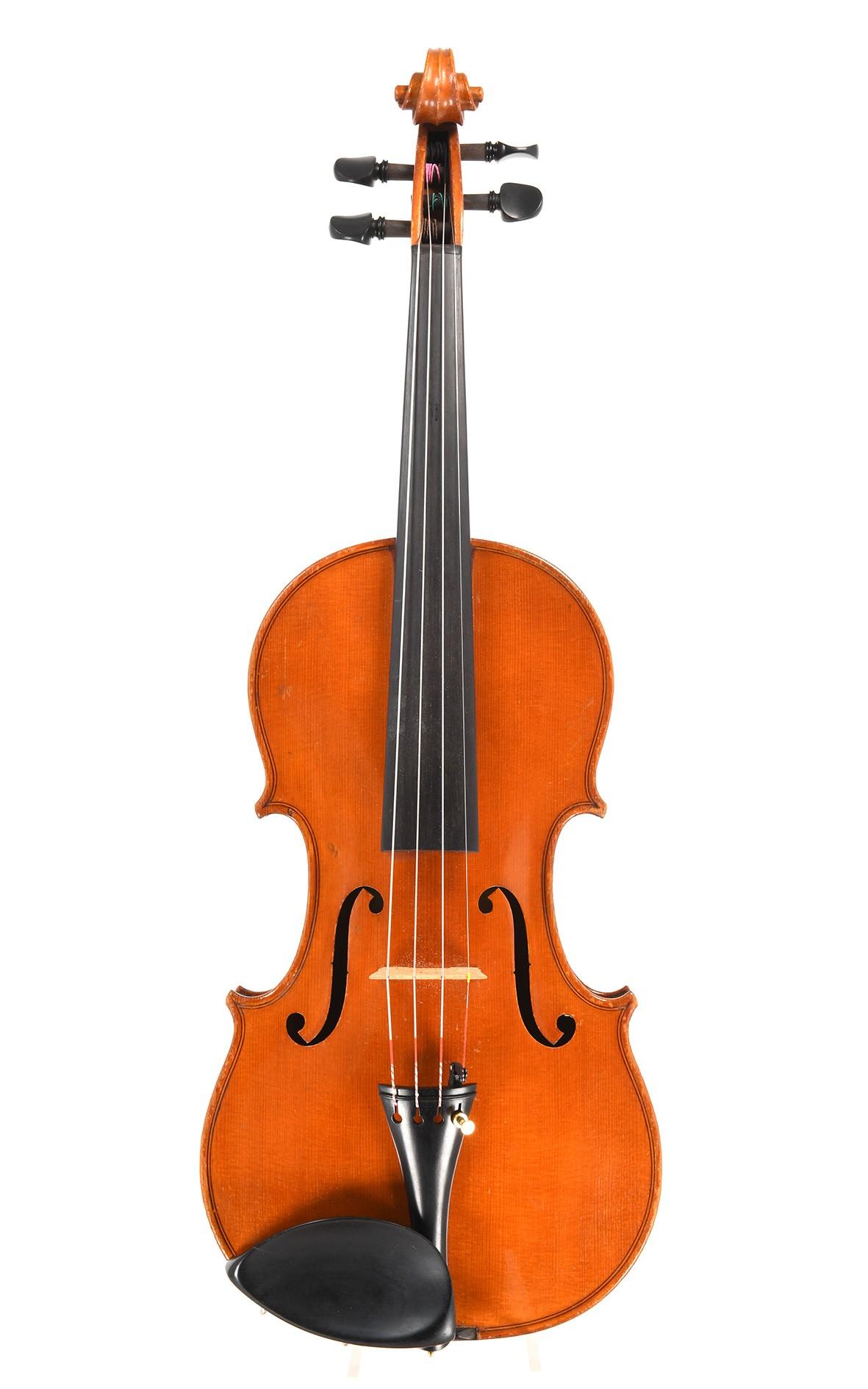 """Antike Böhmische Geige mit Etikett """"Accent fecit 1928"""""""