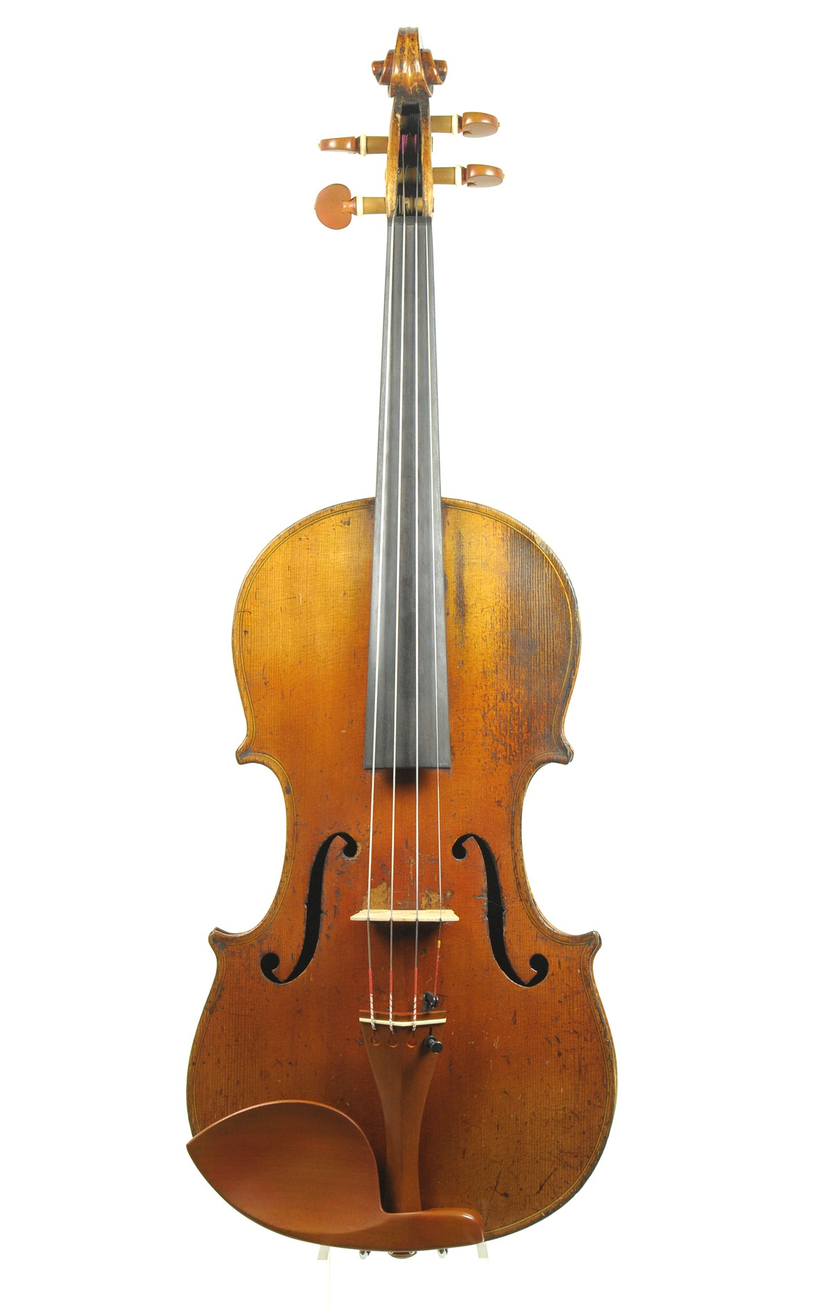 Antique German violin from Saxony, c.1880 - top