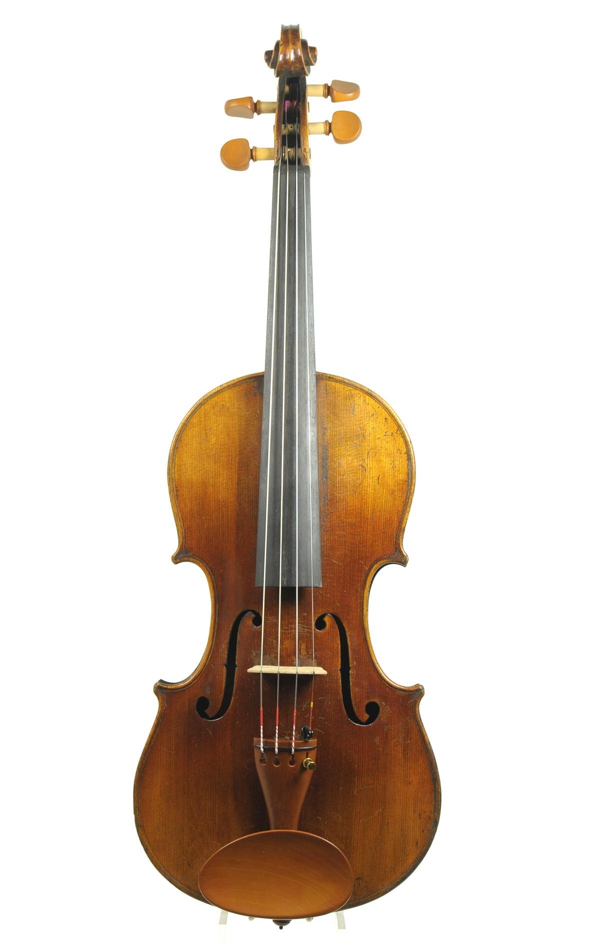 antike Klingenthaler Geige um 1860 - zweiteilige Decke