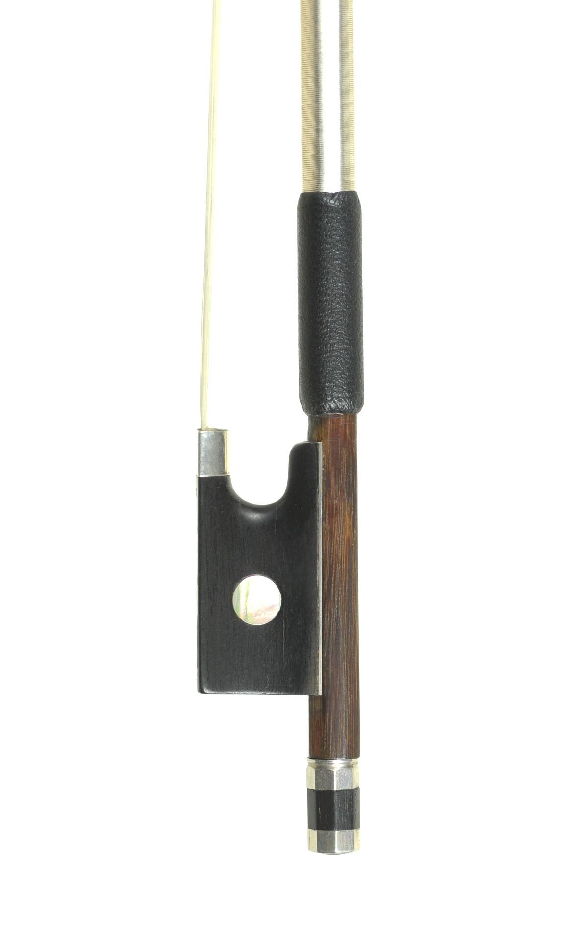 Fine Markneukirchen violin bow, Knopf workshop, c.1880