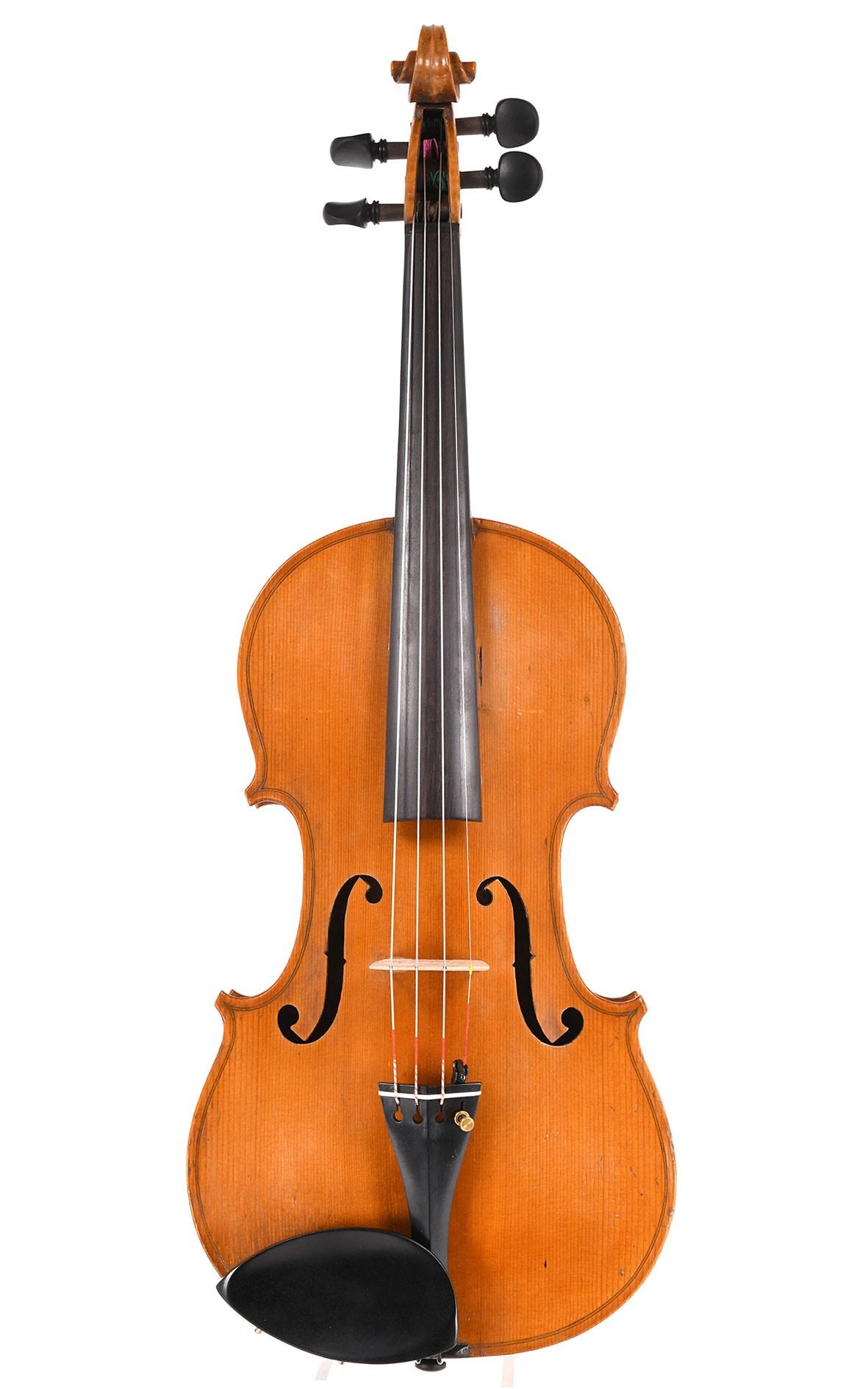 Antike französische Breton Geige aus Mirecourt gebaut um 1870