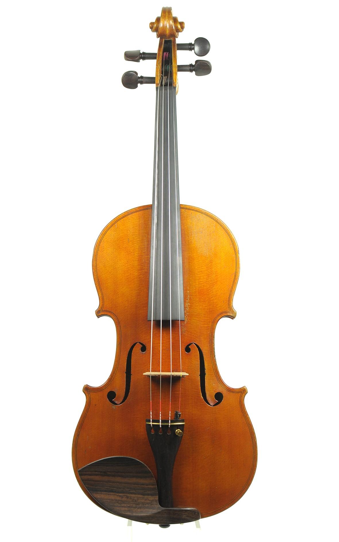 Fine Düsseldorf violin by Louis Otto, made 1892, No. 157 - spruce top