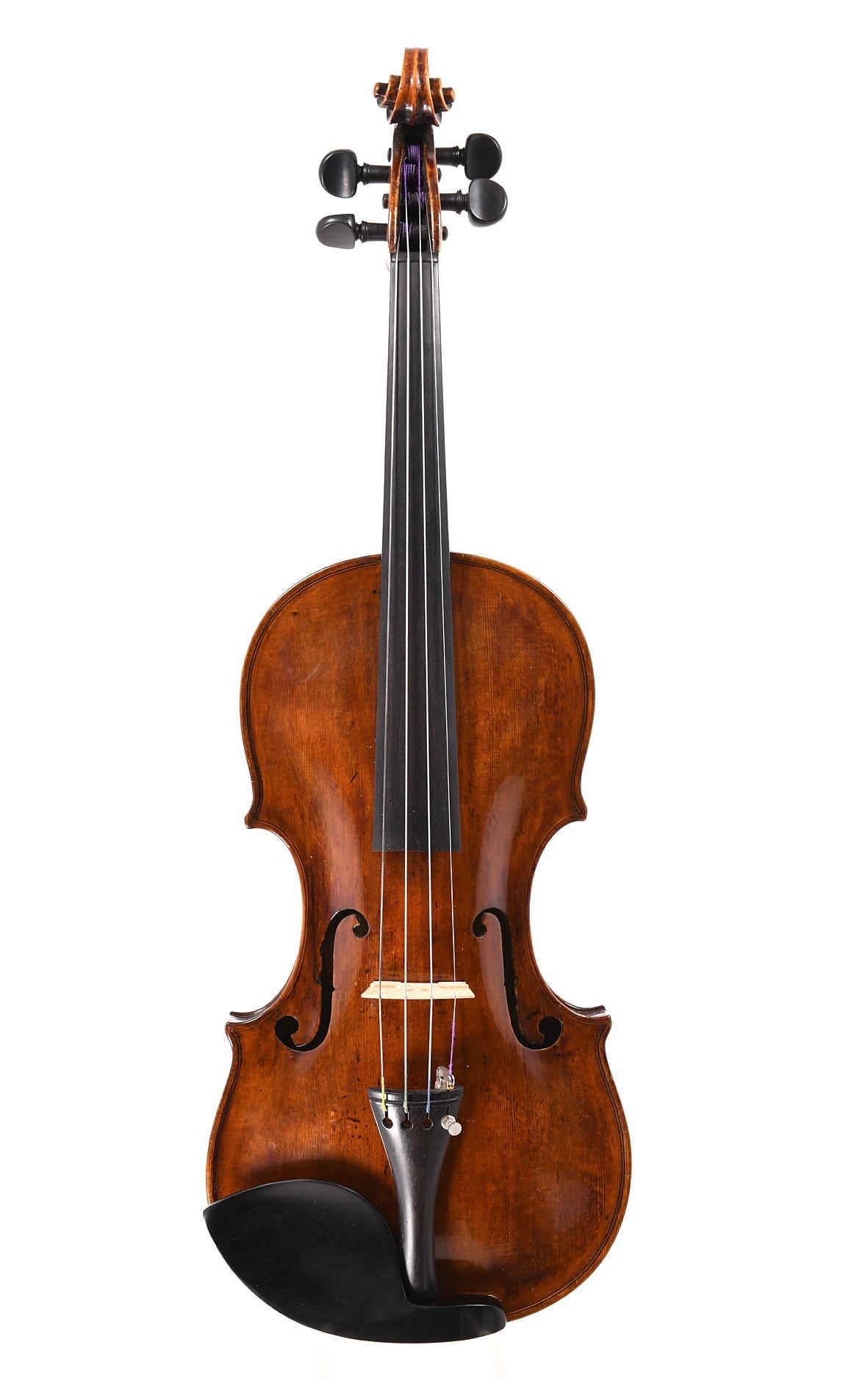 Interesting  Vogtland master violin, approx. 1770 - table
