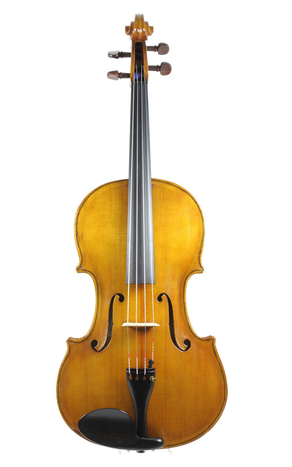 English viola by Alan McDougall - table