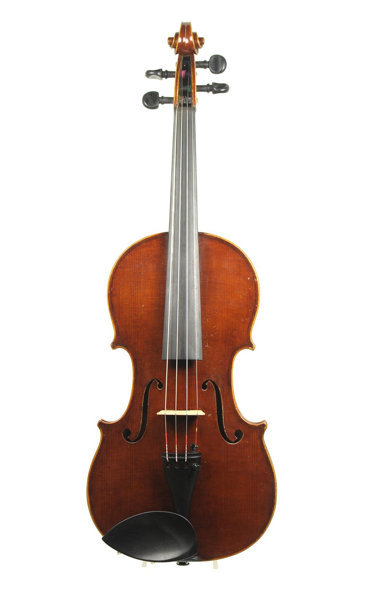 German Markneukirchen violin, Heinrich Th. Heberlein Jr., 1937 - top
