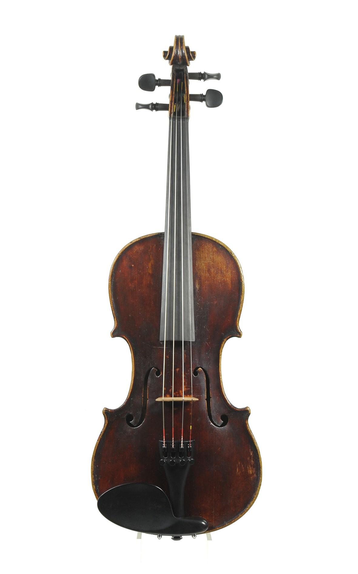 Neuner & Hornsteiner antique 3/4 sized violin ca. 1850 - top