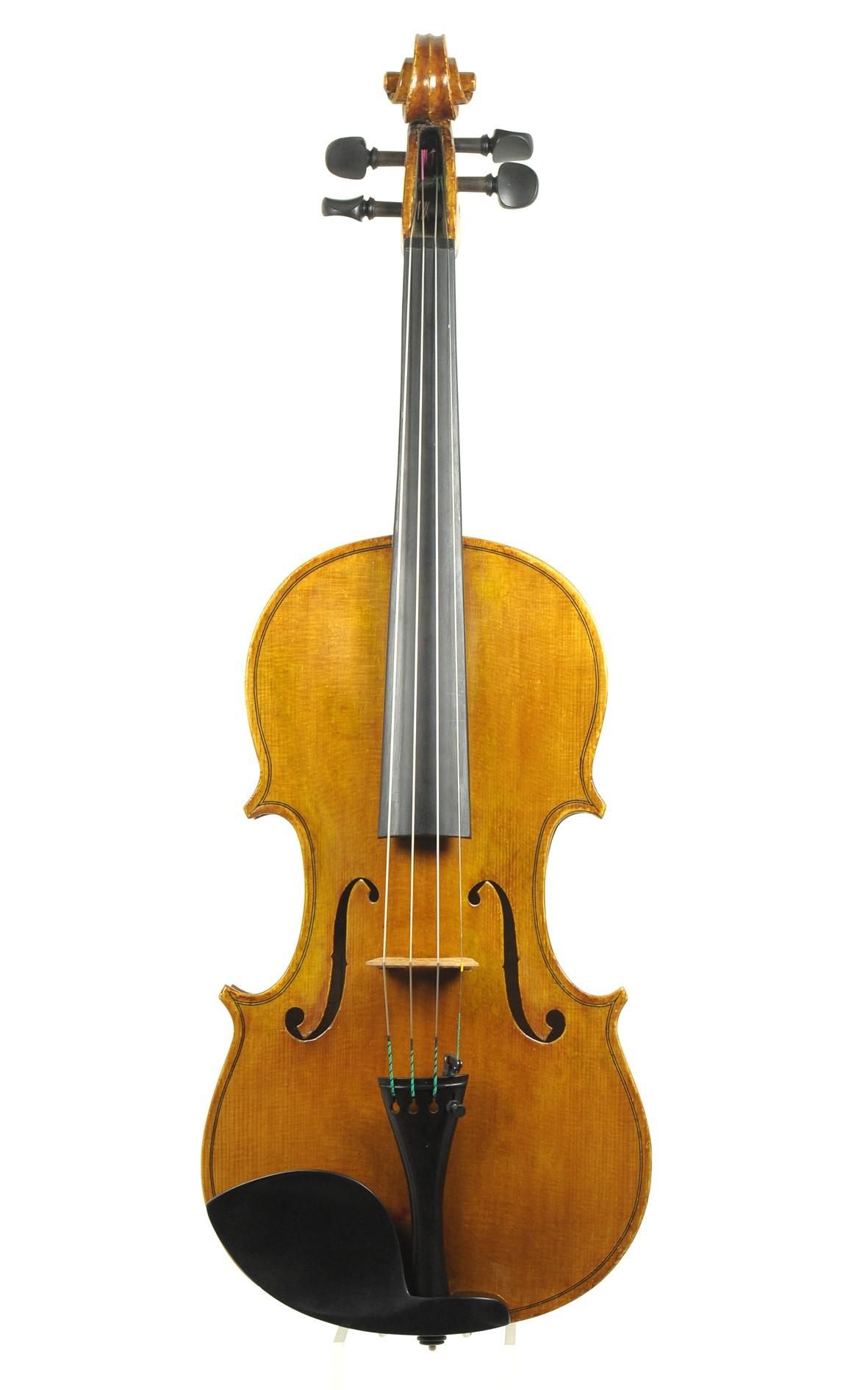 Italian violin by Delfi Merlo, Milano 1979 - top