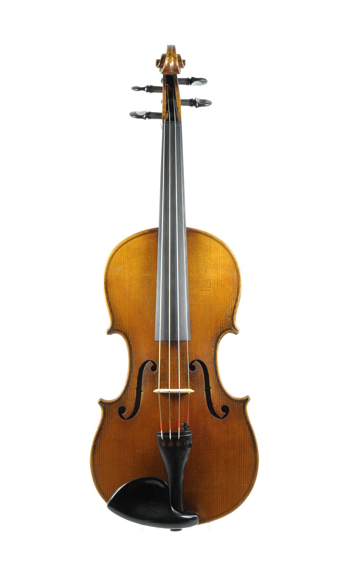 3/4 - good Markneukirchen violin, prob. Schuster & Co. - top view
