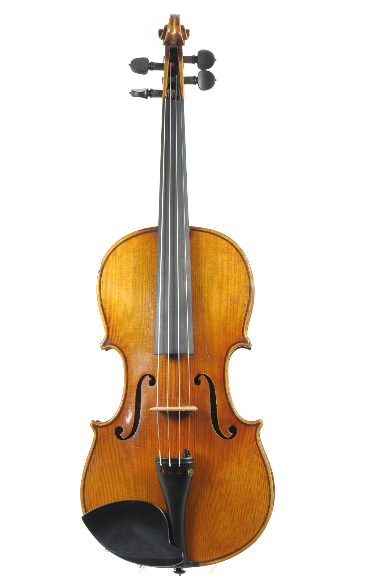 Violin with Ole Bull label, Saxony ca. 1900 - top view