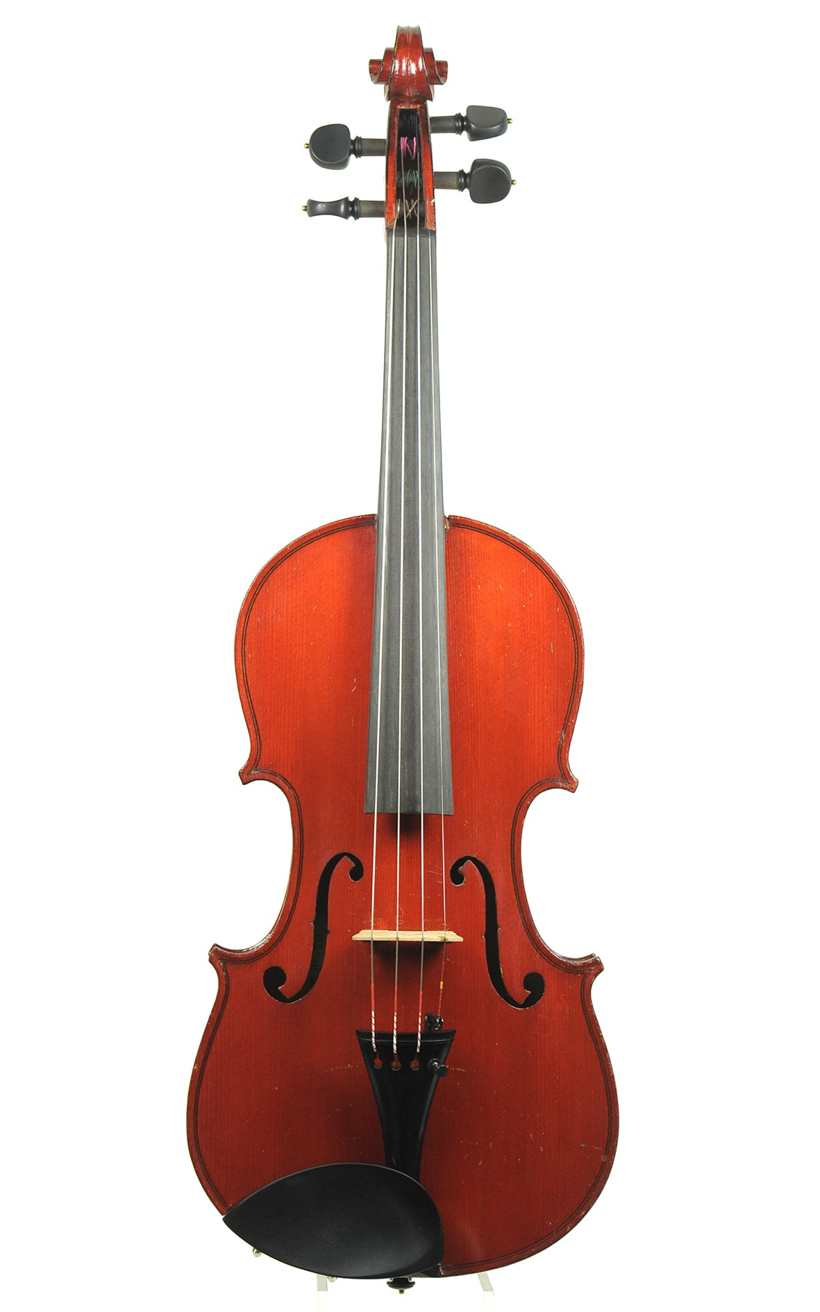 """Antique French J.T.L. violin of Mirecourt, """"A. Salvator"""" model - two piece sppruce top"""
