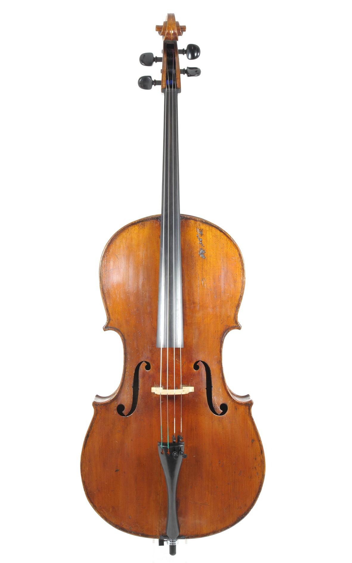 Markneukirchen cello, violoncello approx. 1850 - table