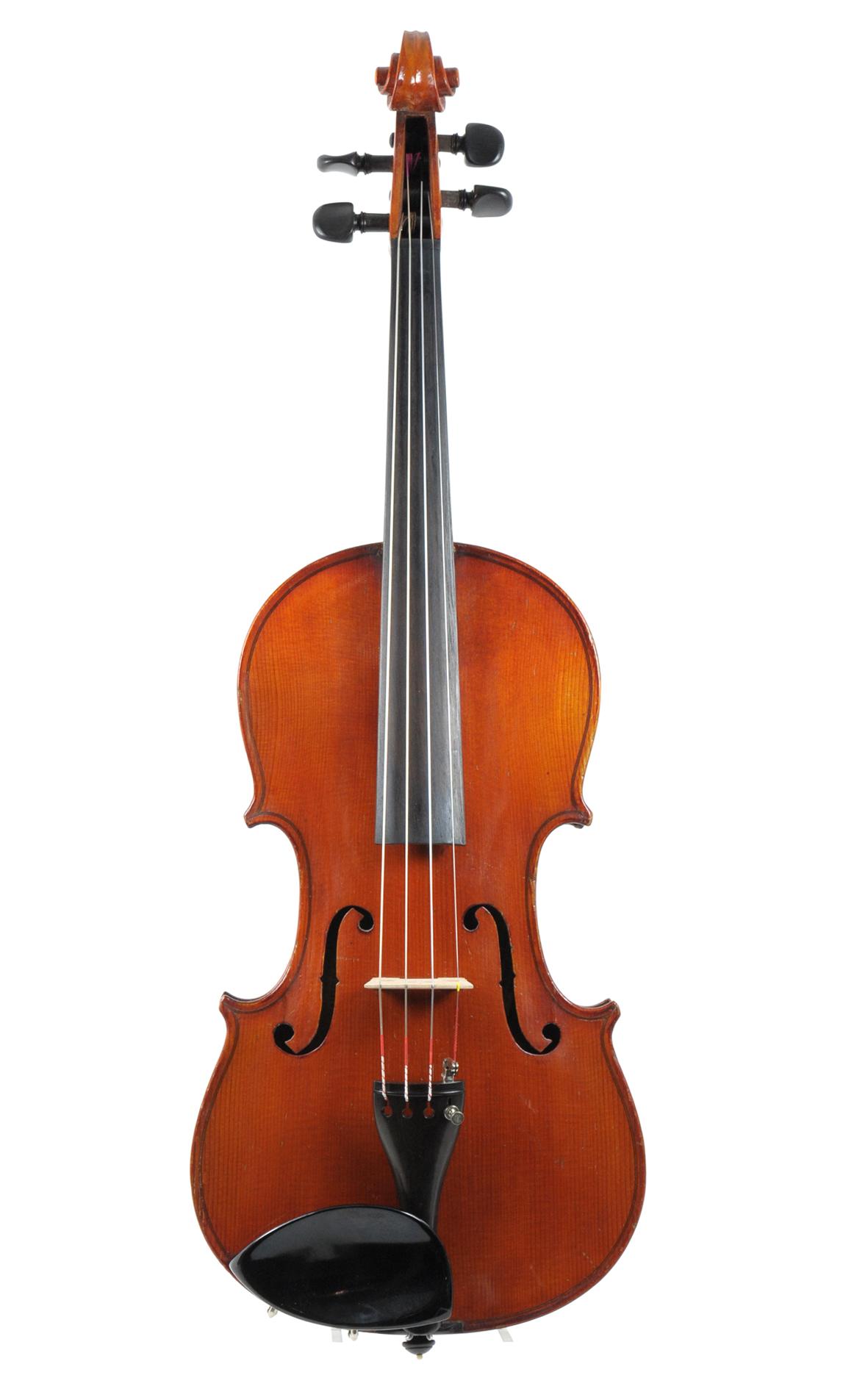 German-American Violin,labeled G. C. Urban,Cleveland