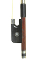 Superior quality French cello bow by Ary France. Finely carved ebony frog.
