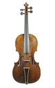 Baroque violin, 18th century - top