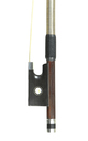 English Silver mounted violin bow: soft stick, mellow tone - frog
