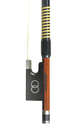 Contemporary English master violin bow, John W. Stagg, head
