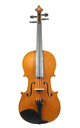 19th century: Antique French Mirecourt violin, Pailliot, approx. 1820 - top view