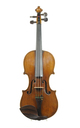 Violin from Naples, Italy, unknown luthier, around 1900 - top view