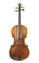 Nicolo Gagliano violin. Two piece top of medium grained spruce, some restoration.