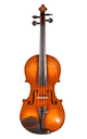 Antique French Jacobus Stainer model violin, Mirecourt - top view