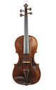 18th century violin, Northern German - top view